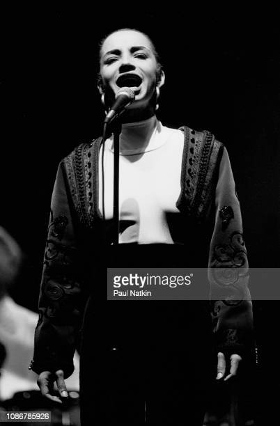 The singer Sade performs on stage at the Auditorium Theater in Chicago Illinois December 13 1985