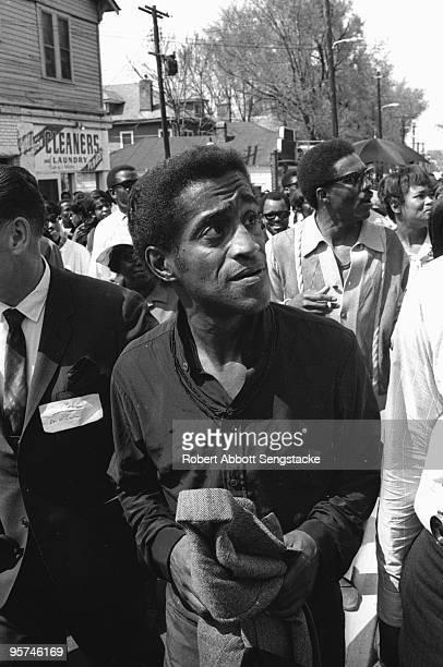The singer Sammy Davis Jr in Atlanta for the funeral of Dr Martin Luther King Jr April 91968