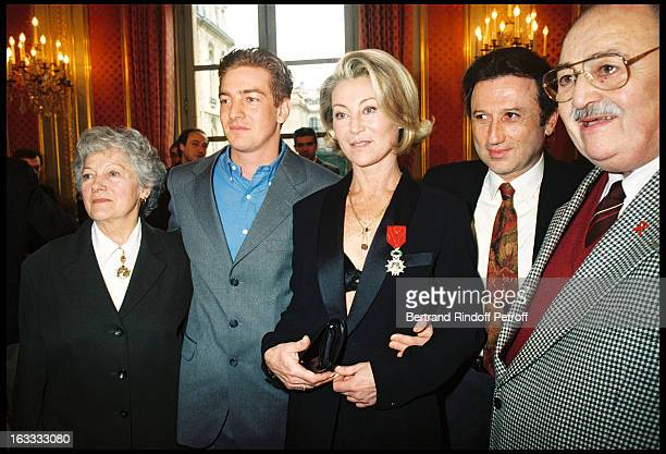 The singer Sheila at The Ceremony Of Bestowing The Honour Of Chevalier De La Legion D' Honneur At The L' Elysee In Paris 1998