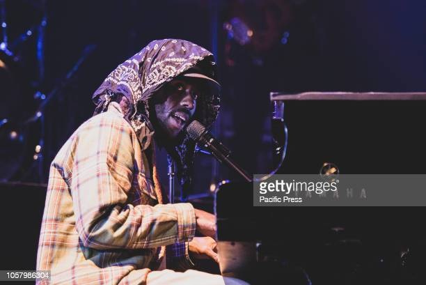 The singer song writer and producer Devonté Hynes better know as Blood Orange performing live on stage at the Club To Club festival in Torino