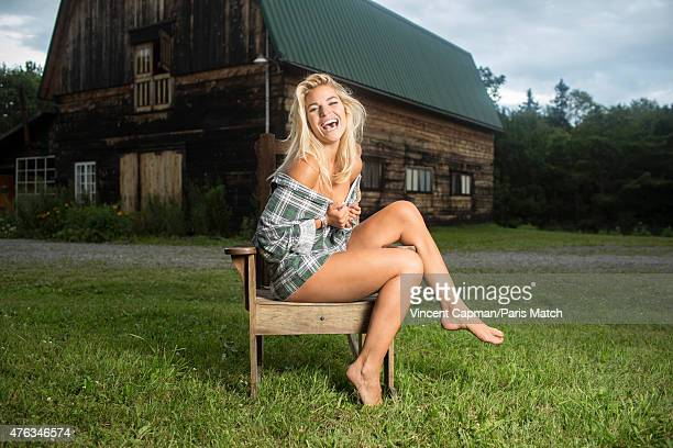 The singer Sophie Tapie is photographed for Paris Match on July 21 2014 in Quebec Canada