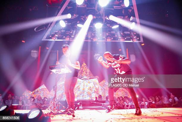 The singer Soprano is photographed for Paris Match on stage at the MACH 38 concert hall in Deols France on September 22 2017