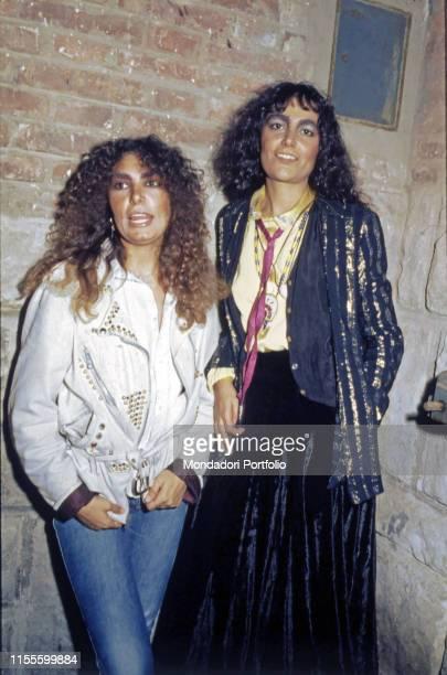 The singers Mia Martini and Loredana Bertè at Vota la voce Italy 1979