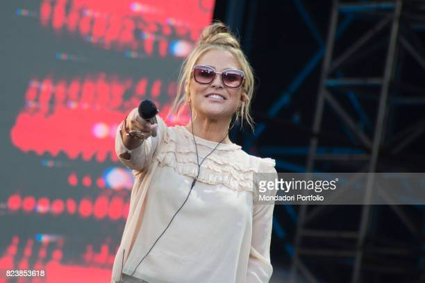 The singersongwriter Anastacia rehearsing her performance for Radio Italia concert on piazza Duomo in Milan Milan Italy 18th June 2017