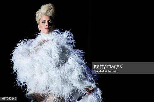 The singersongwriter and actress Lady Gaga in concert at Umbria Jazz Perugia Italy 20th July 2015