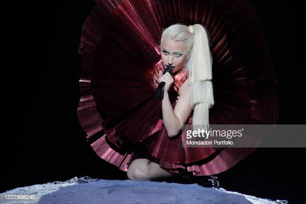 The singersongwriter and actress Lady Gaga performing at the MTV Europe Music Awards 2011 Belfast Northern Ireland November 6th 2011