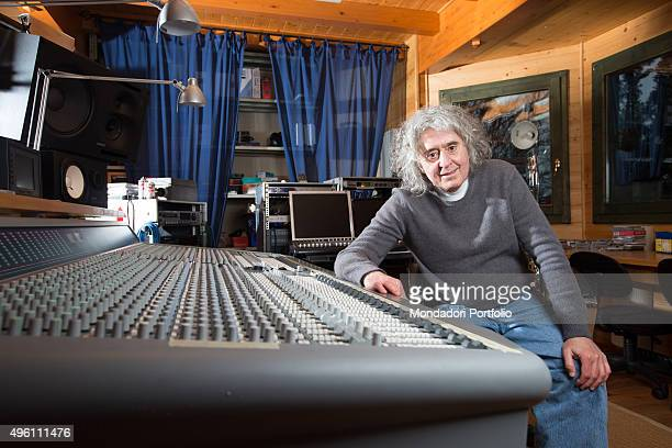 The singersongwriter Angelo Branduardi in his recording studio Bedero Valcuvia Italy 14th February 2014
