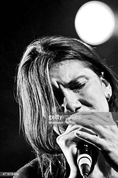 'The singersongwriter Elisa performing at Arena Civica in a photo shooting Milan Italy July 2010 '