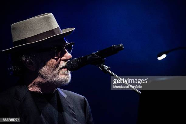 The singersongwriter Francesco De Gregori in concert at the Alcatraz in Milan Milan Italy 23th March 2016