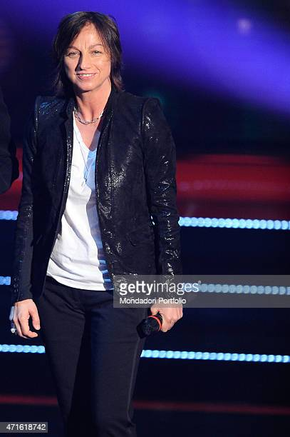 'The singersongwriter Gianna Nannini standing in the studios of the talent show X Factor in a photo shooting Assago Italy November 2009 '