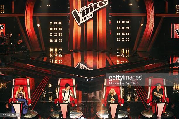 'The singersongwriter Piero Pel the singersongwriter Noemi the rapper and singersongwriter JAx and the presenter dancer and singer Raffaella Carrÿ...