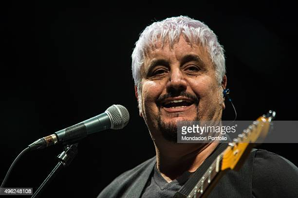 The singersongwriter Pino Daniele during a concert at the Mediolanum Forum Assago Italy 22nd December 2014