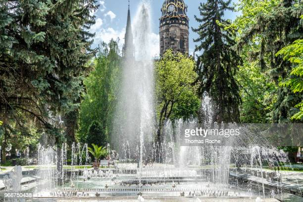 the singing fountain in kosice, slovakia - kosice stock photos and pictures