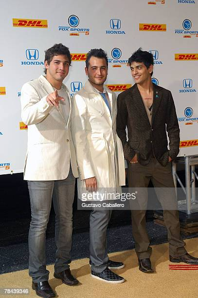 The singing group Reik poses at the 5th Annual Premios Fox Sports Awards at the Fillmore Miami Beach at Jackie Gleason Theater December 12 2007 in...