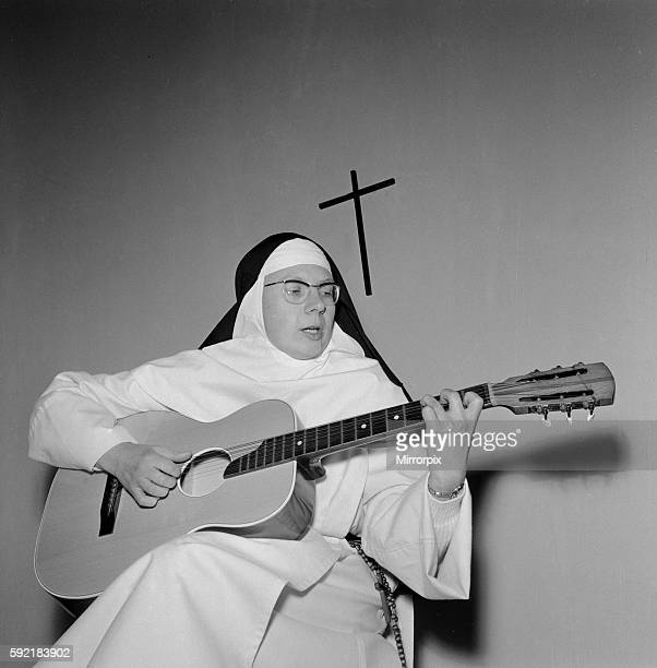 The Singing Nun born JeannePaule Marie Deckers she is a nun at the Dominican Fichermont Convent in Fichermont Belgium Pictured in convent December...