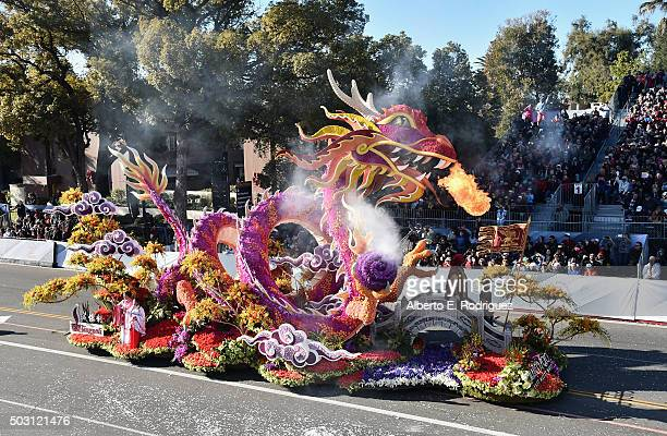 The Singpoli Group float participates in the 127th Tournament of Roses Parade presented by Honda on January 1 2016 in Pasadena California