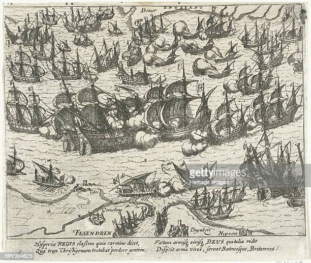 The sinking of the Spanish Armada in 1588 16131615 Found in the collection of Rijksmuseum Amsterdam Artist Hogenberg Frans