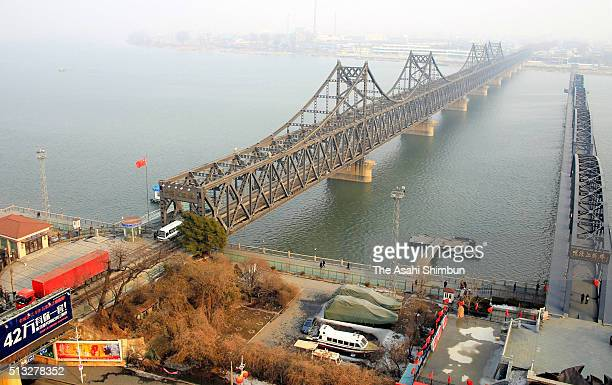 The SinoKorean Friendship Bridge is seen on March 2 2016 in Dandong China The United Nations Security Council will vote on the sanctions on North...