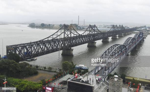 The Sino-Korean Friendship Bridge , seen in this photo taken in September 2017 from the northeastern China border city of Dandong, will be...