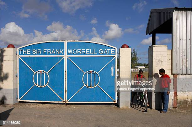 The Sir Frank Worrell gates at the Empire Cricket Club Bank Hall Barbados 27th April 2007 Former members of the club include players such as Sir...