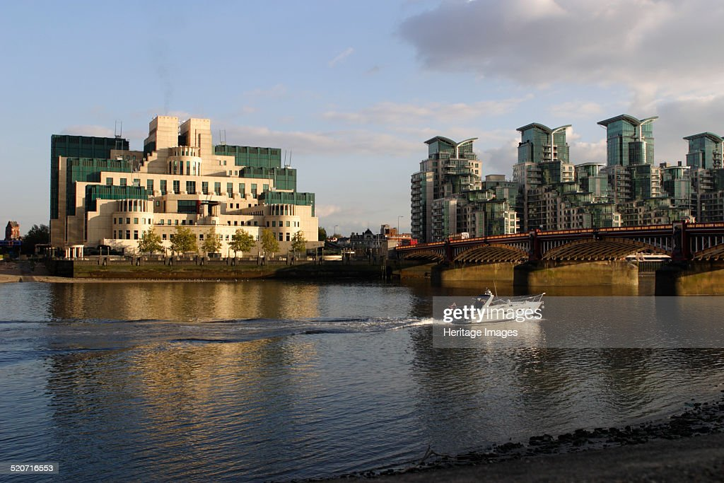 The SIS Building from across the River Thames, London. : News Photo