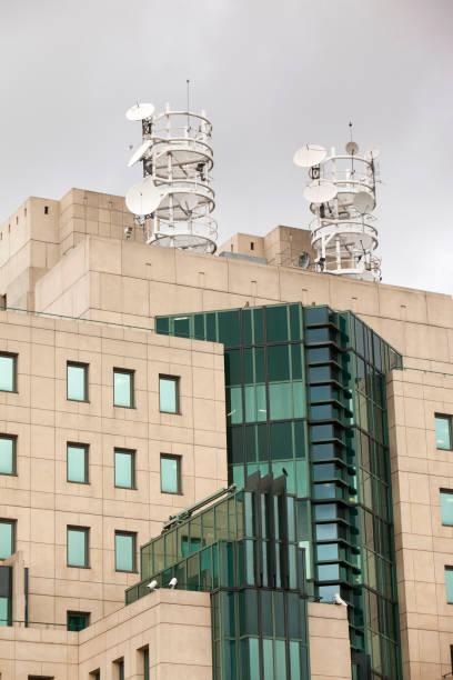 The SIS Building, headqaurters of MI6 in Vauxhall, London, UK.