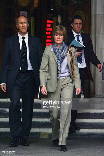 The sister of Diana Princess of Wales Sarah McCorquodale leaves the High Court following the opening day of an inquest into the death of Princess...