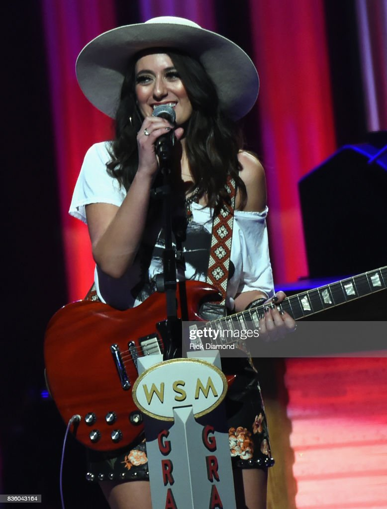 'The Sisterhood' band member Alyssa Bonagura (Daughter of Kathie Baillie & Michael Bonagura - Baillie & The Boys) makes her debut during Grand Ole Opry Total Eclipse 2017 Special Sunday Night Show at Grand Ole Opry House on August 20, 2017 in Nashville, Tennessee.