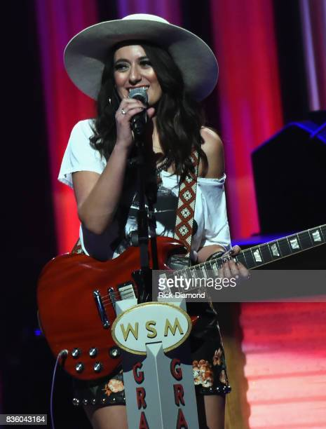 'The Sisterhood' band member Alyssa Bonagura makes her debut during Grand Ole Opry Total Eclipse 2017 Special Sunday Night Show at Grand Ole Opry...