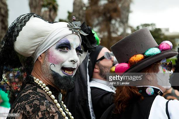 The Sisters of Perpetual Indulgence is a protest and street performance organization that uses drag and religious imagery to call attention to sexual...