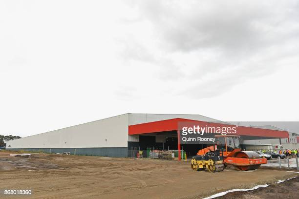 The site for Amazon's first Australian distribution centre is seen on October 30 2017 in Dandenong Australia The online retail giant is preparing to...