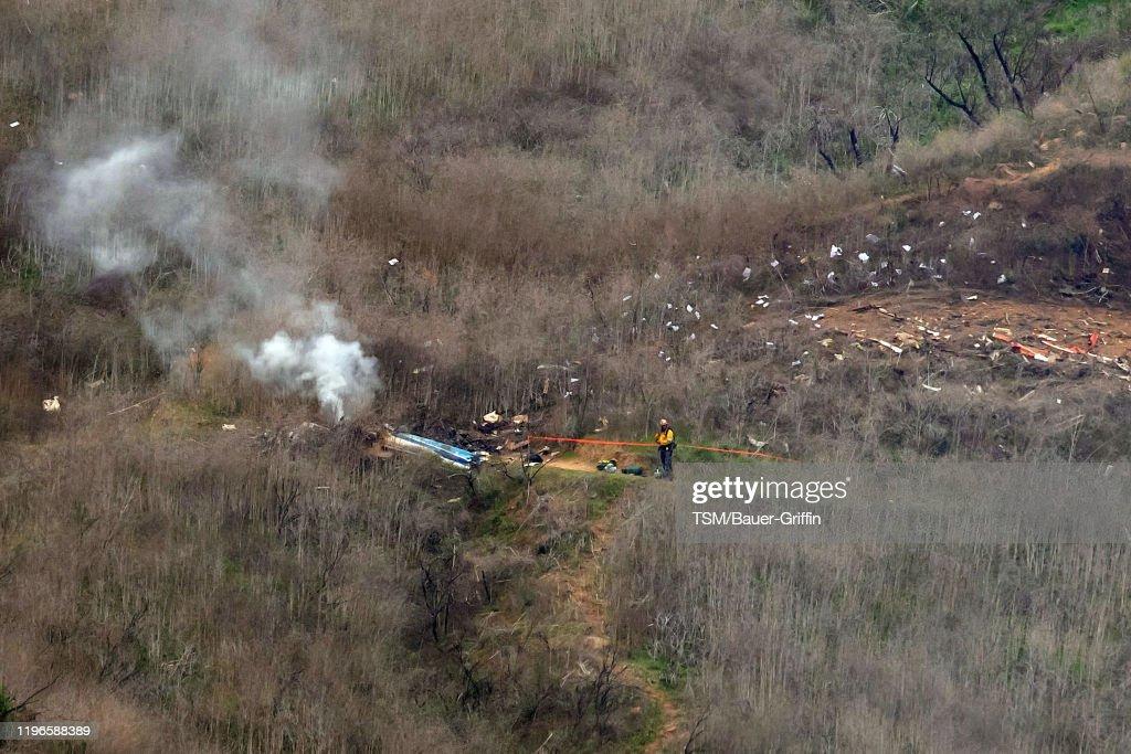 Kobe Bryant Killed In Helicopter Crash In Calabasas Hills : News Photo