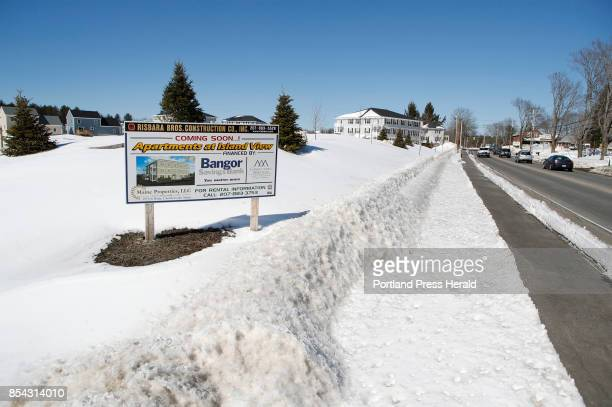The site of a new apartment complex on Spring Street is seen Friday March 17 2017 in Westbrook Maine