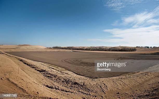 The site of four future Kodiak Oil Gas Corp crude oil wells stands in Williston North Dakota US on Tuesday Feb 14 2012 North Dakota will hold its...