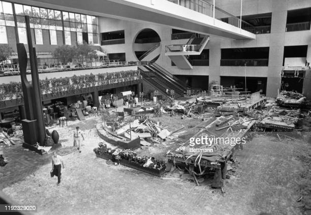 The site of one of the nation's worst disasters is quiet after 113 bodies of the dead had been removed from the lobby of the Hyatt Regency in Kansas...