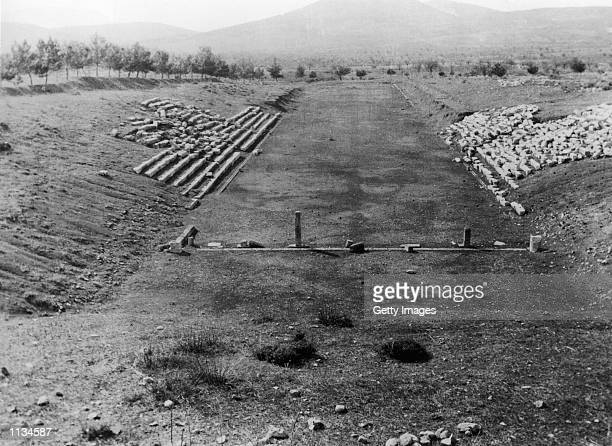 The Site of the Ancient Olympic Stadium in Athens, Greece.