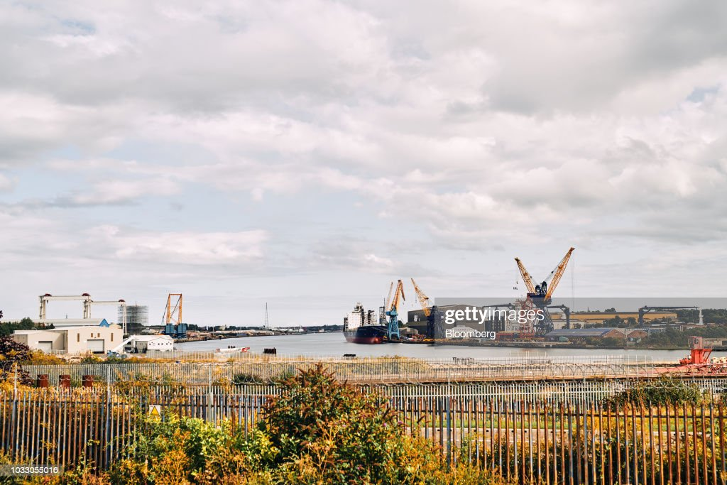 The site of the former Swan Hunter shipyard stands on the River Tyne in Wallsend, U.K., on Thursday, Sept. 6, 2018. The northeast of England illustrates the precarious position facing many parts of the U.K. just six months before the country is due to leave the EU. Photographer: Matthew Lloyd/Bloomberg via Getty Images