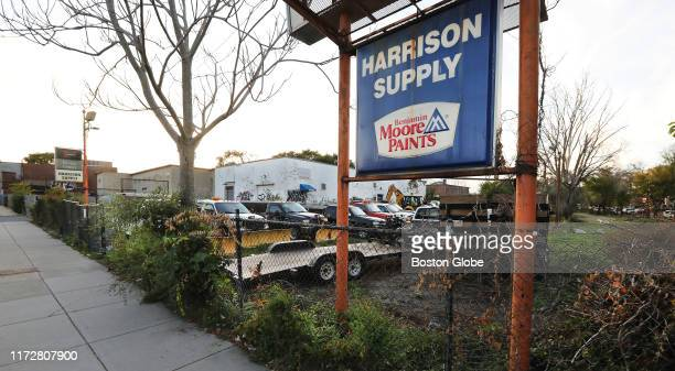 The site of the Harrison Supply Co building on Harrison Avenue in the Roxbury neighborhood of Boston is pictured on Sep 29 2019 After more than a...