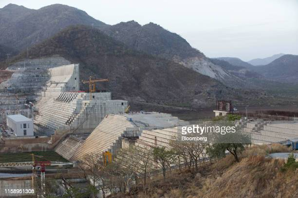 The site of the under-construction Grand Ethiopian Renaissance Dam stands in the Benishangul-Gumuz Region of Ethiopia, on Wednesday, May 22, 2019....