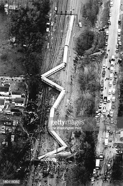 The site where an Amtrak Colonial train collided with three Conrail freight locomotives Photographed January 4 1987 in Essex Maryland