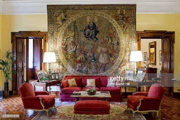 The sitting room in Villa Spaletti Trivelli Hotel a 5 star antique boutique Hotel in Rome Italy
