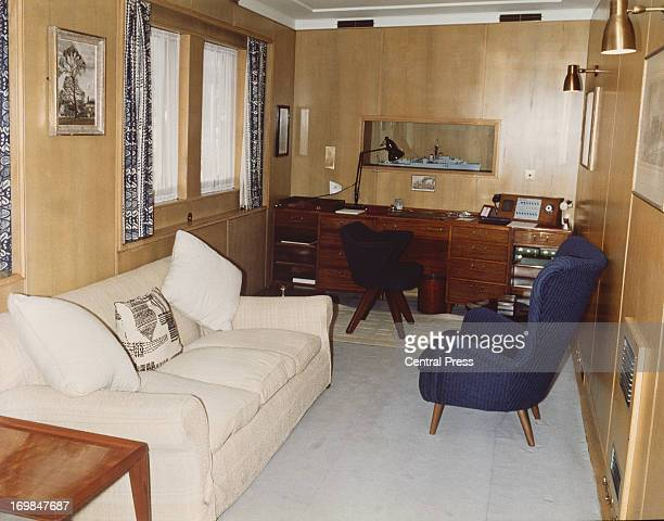 The Sitting Room on the Royal Yacht Britannia 1978