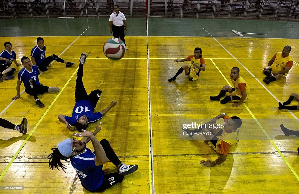 VOLLEY-COLOMBIA-SITTING VOLLEYBALL-CONFLICT : News Photo