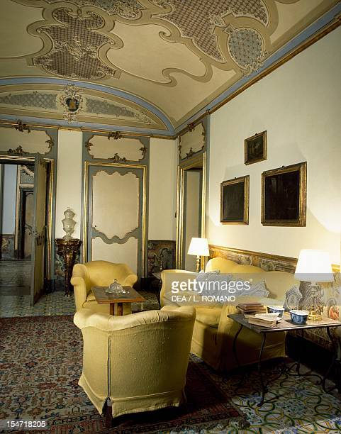 The sittingroom Palazzo Biscari Catania Sicily Italy 18th century