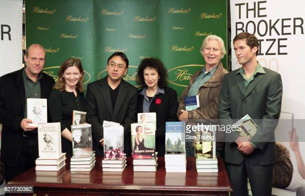 The six authors shortlisted for the Booker Prize LR Matthew Kneale Trezza Azzopardi Kazuo Ishiguro Margaret Atwood Brian O'Doherty and Michael Collins