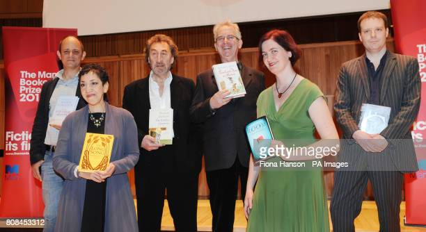 The six authors shortlisted for the Man Booker 2010 literary prize gather at the Royal Festival Hall London this evening Damon Galgut for In A Small...