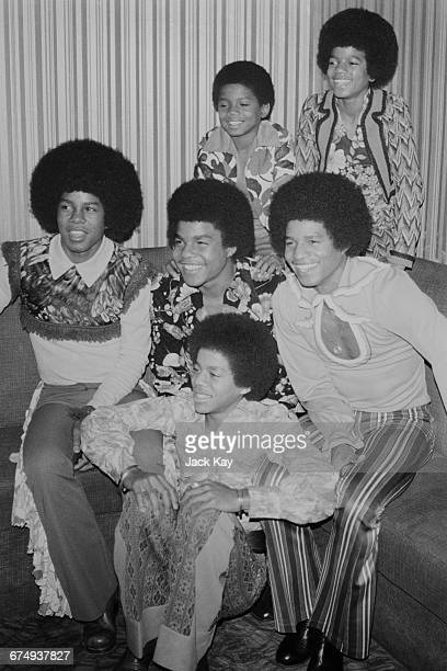 The six members of the American pop group The Jackson 5 or The Jacksons London UK November 1972 They are brothers Jackie Tito Jermaine Marlon Michael...