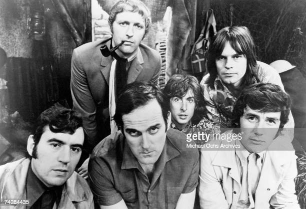 The six members of the Monty Python team 1969 Left to right Terry Jones Graham Chapman John Cleese Eric Idle Terry Gilliam and Michael Palin