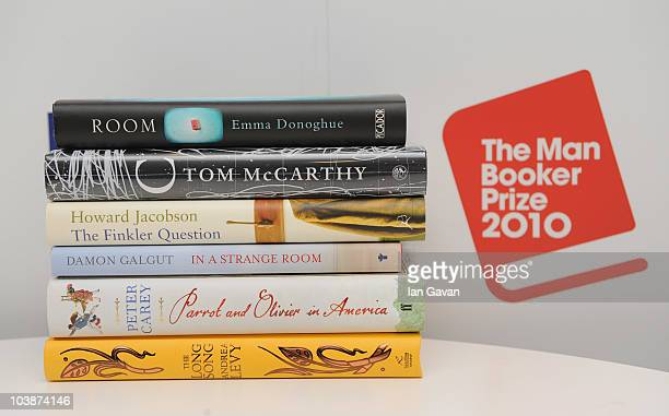 The six titles announced as the Man Booker Prize shortlist are 'Room' by Emma Donoghue 'C' by Tom McCarthy 'The Finkler Question' by Howard Jacobson...