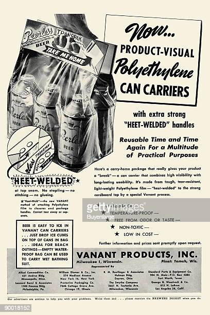 The sixpack has been a timehonored mainstay of the brewing industry since the 1930s Here is an ad from Vanant Products Inc of Milwaukee showing one...